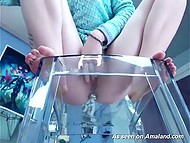 Redhead started cool show on webcam to let everybody who watched her jack off well 4