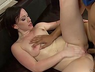 Chick is always very happy to have sex with such different fuckers and she does it well 11
