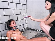 Mistress humiliates her guilty black slave girl spanking and dousing her with wax 10