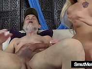 Old man seduces young petite slut and demonstrates that he is still a good fucker 8