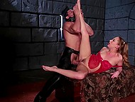 Coming to dungeon to visit sexy inmate arrogant mistress wanted to be fucked 9