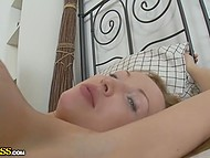 Blonde-haired colleen was confused by camera at the beginning but then relaxed and enjoyed sex with swain 11