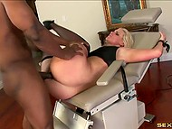 Dark-skinned gallant bangs hard pussy and asshole of beddable girlfriend and cums on her wonderful feet 5