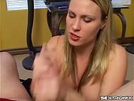 Girl smokes and sucks dick to make her boyfriend feel blistering effect of cigarette's steam 11