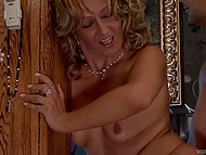 Concupiscent MILF has fun with young macho who fucks her in all holes and cums in mouth 10