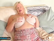 Mature women like to gambol just like young ones and two scenes with dames masturbating prove it 10