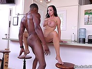 Following juicy vagina of buxom sexpot, anal hole gets penetrated by enormous black dick 4