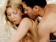 Libidinous doggystyle action: golden-haired woman and her lover with voiceovers 9