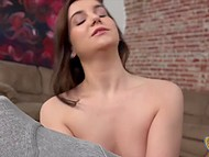 Winsome colleen couldn't stay idly by so she stroked silent guy's boner to make it cum 6