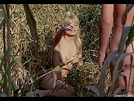 Frank full feature film scene about young blonde who is sleeping with her boyfriend outdoors 4