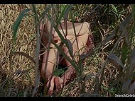 Frank full feature film scene about young blonde who is sleeping with her boyfriend outdoors 7