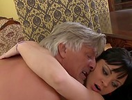 Hardy old man organized long-lasting anal sex for dark-haired colleens with lascivious faces 6