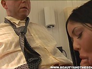 Brunette's pussy was itching for lack of dick and gynecologist helped patient out 5