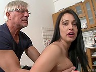 Old man couldn't be satisfied with minx's pussy only and also penetrated her asshole 4