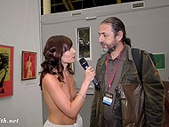 Minx Jeny Smith pretended to be a journalist and conducted a survey among the visitors of erotic fair 8