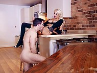 Sexy housewife has taken some steps to make hard-working husband think about her wet pussy 5