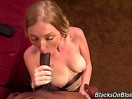 Blonde made an appointment with black agent to talk about her returning in the adult industry 4