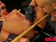 Latin in gloves relentlessly nailing tied up Sabrina Banks in the basement for special entertainments 6