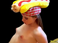 Sex with winning waitress behind the counter cost to rich lad as three hot dogs 9