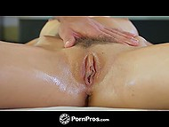 Masseur made Marley Brinx feel much better after pushing penis in her oiled and licked pussy 6