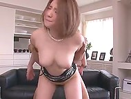 Japanese slut's outfit made buddies realize she is was not against threesome