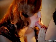 Ginger knows that desiring man always prefers nifty blowjob over tedious vaginal sex 11