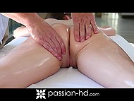 Admirer made up his mind to pleasure lovely with relaxing massage and sensual sex 7