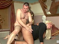 Great woman's shapes brought man to ecstasy so he burned with desire of fucking her 8
