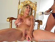 Buxom dame Puma Swede needed helping hands and toys so sidekick Claudia Valentine provided her assistance 6