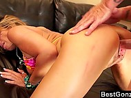 Photo session transformed into nice fucking between photographer and model with hefty baps 9