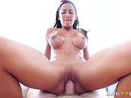 Big-boobied licentious sexpot worked off her part with bang satisfying accomplished man 7