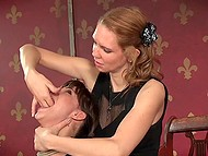 Tied trusting girl is scared because now she has to tolerate all voluptuous tortures 5