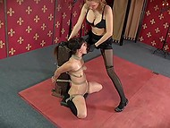 Tied trusting girl is scared because now she has to tolerate all voluptuous tortures 6
