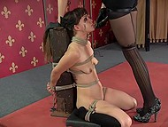 Tied trusting girl is scared because now she has to tolerate all voluptuous tortures 8