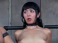 Helpless Asian doll was searching for intimate adventure and got into dominator's trap 5