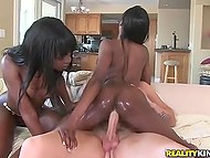Black chicks always wanted to taste white penis and tonight their wishes would come true 4