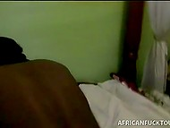 Hot African bimbo performs her duties to satisfy hotel's desiring clients who comes especially for this 10
