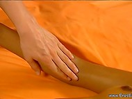 Maiden is practicing tantric massage turning client on but never letting her dissipate the tension 8