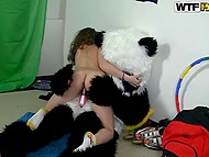 Panda came to visit girl to not let her get bored as well as to make her feel pleasure 5