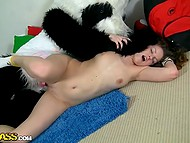 Panda came to visit girl to not let her get bored as well as to make her feel pleasure 9