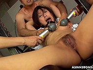 Asian cunt never felt such banging as that day and, while it was hardcore, she still liked it 6