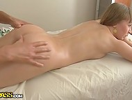 Girlfriend told fetching miss about proficient masseur and she came to him as fast as she could 5