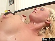 Fair-haired enchantress seduced and fucked stepmom's young BF while she wasn't around 7