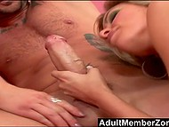 Guy picked up blonde but she took girlfriend to his place for a hot FFM threesome  4