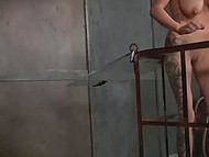 Brunette is upset with dirty girlfriend so she decided to punish her hard in BDSM style 4