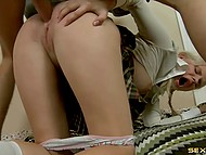 It's very boring to do homework and butt sex with tutor helps schoolgirl to take a rest 6