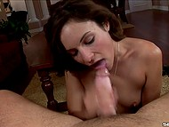 Concupiscent colleen gives amazing pleasure to her desiring husband in oral way 9