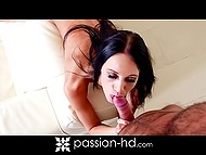 Bald beau caught brunette Evelyn Neill masturbating and replaced vibrator with his phallus 9