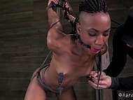 Black dudette had bad luck of coming to real dominant who showed her what did sweet pain mean 10