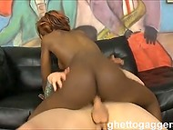 Ghetto gaggers arranged their own casting and seriously fucked energetic black woman 9